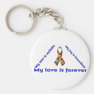I love my child with autism - unique keychain desi