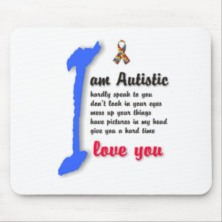 I love my child with autism - unique mousepad