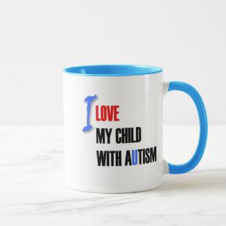 I love my child with autism - unique mug design se