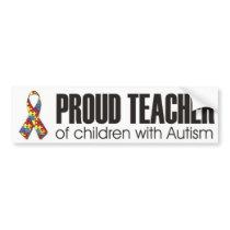 I love my child with autism - unique sticker desig