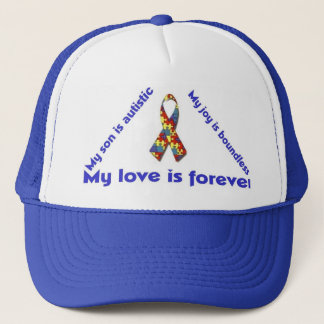 I love my child with autism - unique t-shirt desig trucker hat