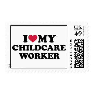 I love my childcare Worker Postage Stamps