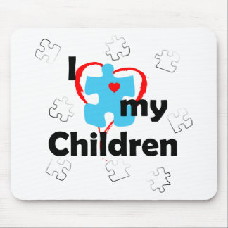 I Love My Children - Autism Mouse Pad