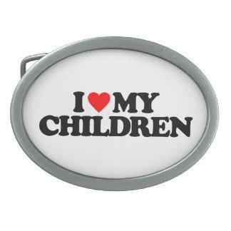 I LOVE MY CHILDREN BELT BUCKLES