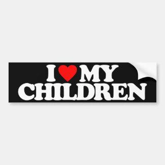 I LOVE MY CHILDREN BUMPER STICKER