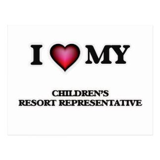 I love my Children's Resort Representative Postcard