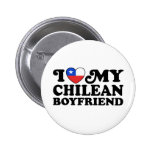 I Love My Chilean Boyfriend 2 Inch Round Button