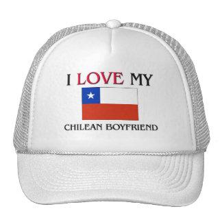I Love My Chilean Boyfriend Trucker Hat