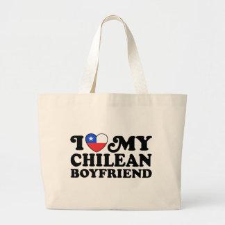 I Love My Chilean Boyfriend Jumbo Tote Bag
