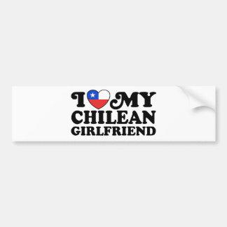 I Love My Chilean Girlfriend Bumper Sticker