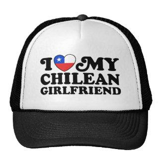 I Love My Chilean Girlfriend Mesh Hat