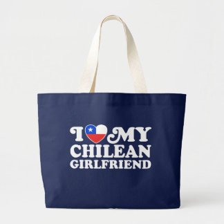I Love My Chilean Girlfriend Jumbo Tote Bag