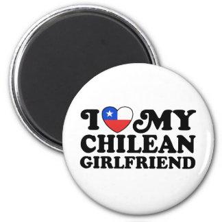 I Love My Chilean Girlfriend Refrigerator Magnet