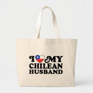 I love My Chilean Husband Jumbo Tote Bag