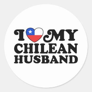 I love My Chilean Husband Round Stickers