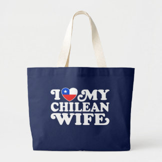 I love My Chilean Wife Jumbo Tote Bag