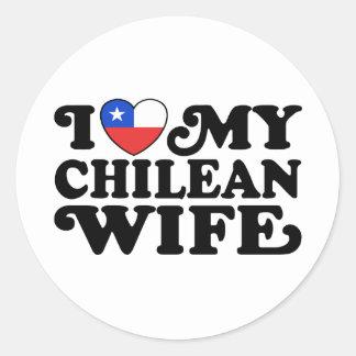 I love My Chilean Wife Sticker