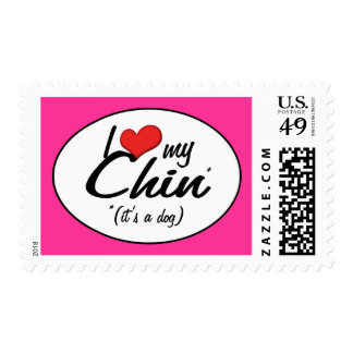 I Love My Chin (It's a Dog) Postage
