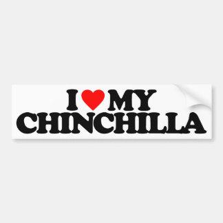 I LOVE MY CHINCHILLA BUMPER STICKERS