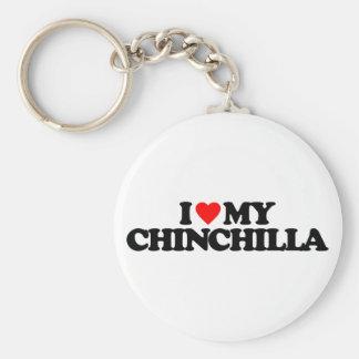 I LOVE MY CHINCHILLA KEYCHAIN