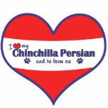 I Love My Chinchilla Persian (Male Cat) Photo Cutouts