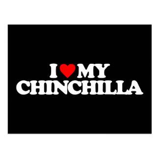 I LOVE MY CHINCHILLA POSTCARD