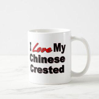 I Love My Chinese Crested 2 sided Coffee Mug