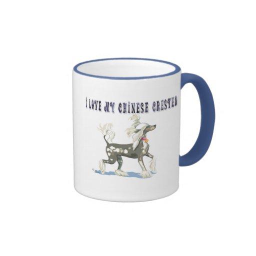 I Love My Chinese Crested Dog Art Mug Cup