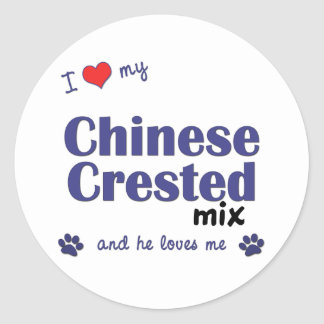 I Love My Chinese Crested Mix (Male Dog) Sticker