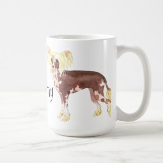 I Love my Chinese Crested Classic White Coffee Mug