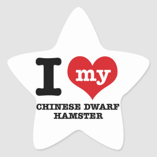 I Love my chinese dwarf hamst Star Sticker