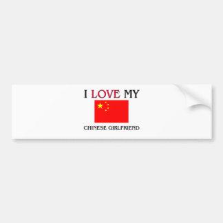 I Love My Chinese Girlfriend Bumper Sticker