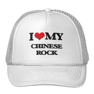 I Love My CHINESE ROCK Mesh Hat