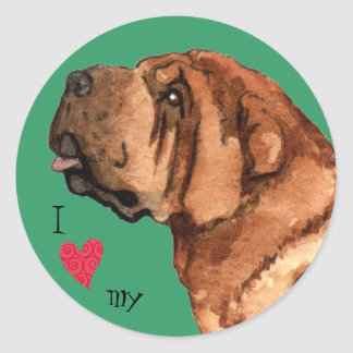 I Love my Chinese Shar-Pei Classic Round Sticker