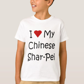 I Love My Chinese Shar-Pei Dog Lover Gifts T-Shirt