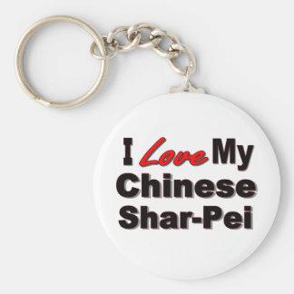 I Love My Chinese Shar-Pei Keychain