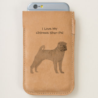 I Love My Chinese Shar-Pei - leather iPhone 6/6S Case