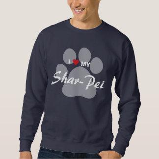 I Love My Chinese Shar-Pei Pawprint Sweatshirt