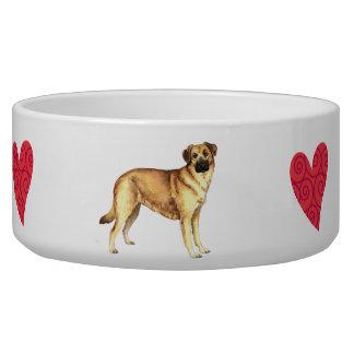 I Love my Chinook Dog Food Bowl