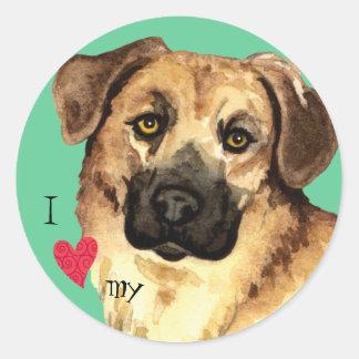 I Love my Chinook Round Sticker