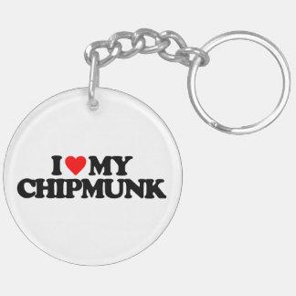 I LOVE MY CHIPMUNK KEYCHAIN
