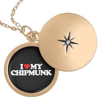 I LOVE MY CHIPMUNK PENDANT