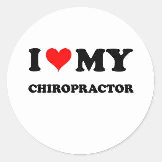 I Love My Chiropractor Classic Round Sticker