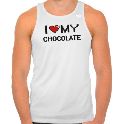 I Love My Chocolate Digital design New Balance Running Tank Top Tank Tops, Tanktops Shirts