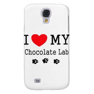 I Love My Chocolate Lab Samsung Galaxy S4 Cases