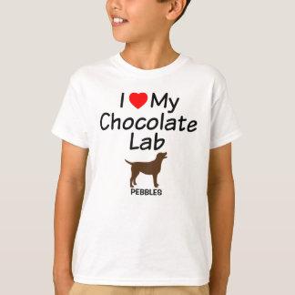 I Love My Chocolate Lab Dog T-Shirt