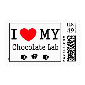 I Love My Chocolate Lab Postage