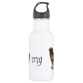 I Love my Chocolate Lab Stainless Steel Water Bottle