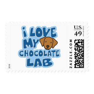 I Love my Chocolate Lab Stamps