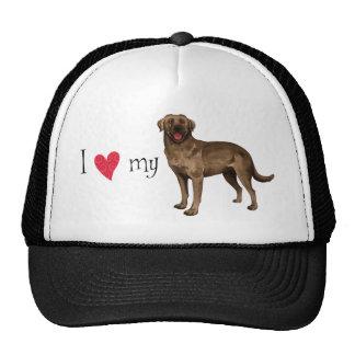 I Love my Chocolate  Lab Trucker Hat